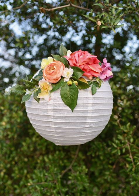 Decoration By Flowers - diy flower paper lanterns tutorial make lovely