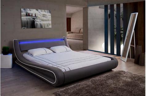 lit 180x200 led lit design led 180x200 gris blanc fereol design sur sofactory