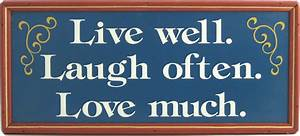 Live Laugh Often Love Much : live well laugh often love much all gifts considered ~ Markanthonyermac.com Haus und Dekorationen