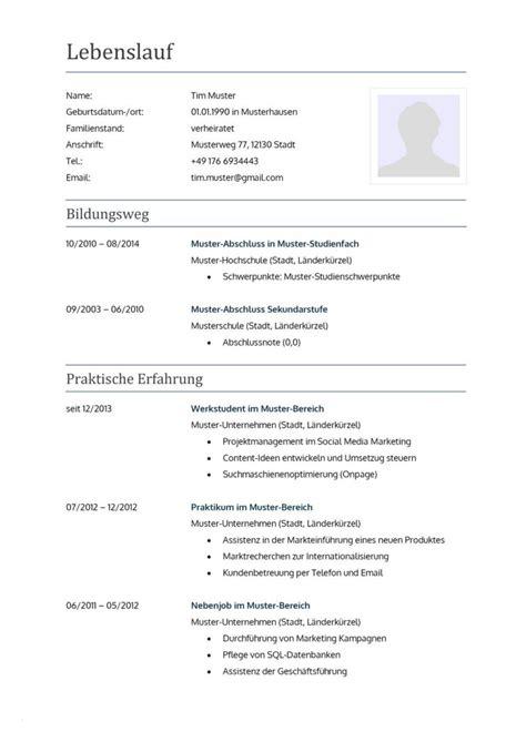 Lebenslauf Kostenlos Schreiben by Lebenslauf Vorlage Kostenlos Pdf Neu 11 Sponsoren