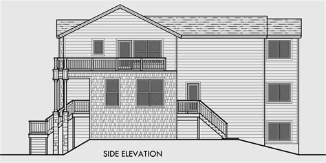 level house plan angled side wall unique properties