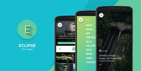 Eclipse Html Template by Eclipse Mobile Template Themekeeper