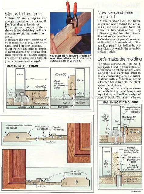 How To Make Raised Panel Cabinet Doors With A Router by Raised Panel Doors Woodarchivist