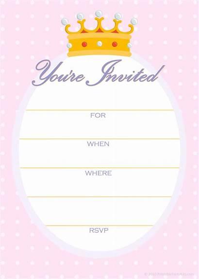 Invitation Birthday Template Unicorn Printable Party Golden