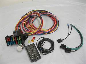 New Colored 12 Circuit Universal Wire Harness Muscle Car