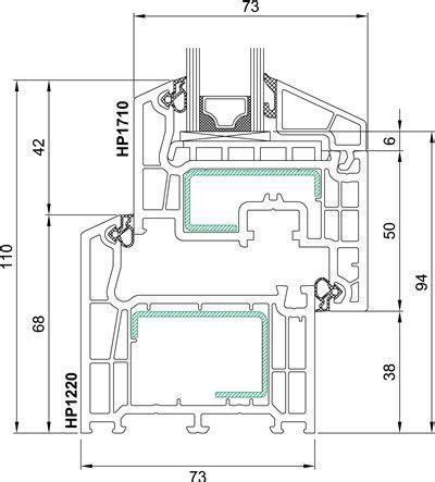 Technische Zeichnung Fenster by Kunststofffenster Bluevolution 73 Konfigurieren