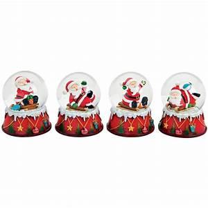Boule De Neige Noel : boule neige p re no l luge cadeau 9 cm r sine la magie ~ Zukunftsfamilie.com Idées de Décoration