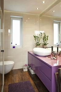 Kleines Büro Einrichten Ideen : kleines bad einrichten ideen lila waschtischschrank badezimmer gestaltungsideen pinterest ~ Sanjose-hotels-ca.com Haus und Dekorationen