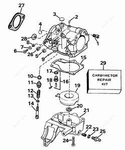 Evinrude 1989 25 - E25tecem  Carburetor