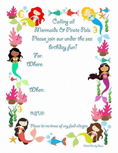 Mermaid Invitations Party Birthday Invitation Printable Drive