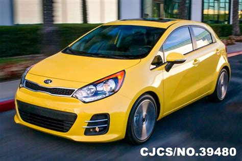 Brand New 2016 Left Hand Kia Rio Yellow For Sale Stock