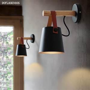Applique Murale Led : applique murale led en bois avec abat jour suspendu ~ Melissatoandfro.com Idées de Décoration