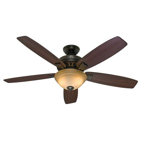 54 Hunter Premier Bronze Ceiling Fan Toffee Glass Light