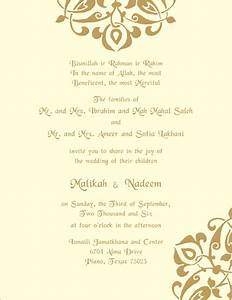 muslim printed samples With format of muslim wedding invitation card