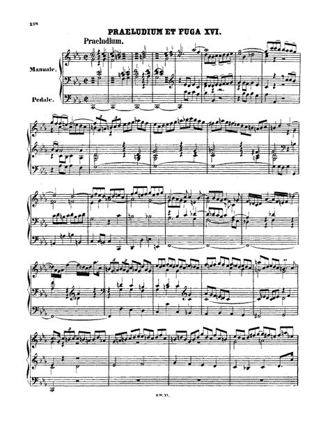 Prelude And Fugue In C Minor Bwv 546 Bach Johann