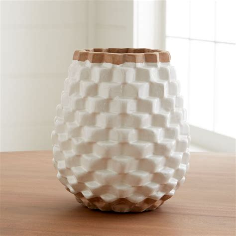 rati white textured vase reviews crate  barrel