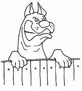 Cachorro Fence Latindo Coloring Bravo Desenho Cerca Cane Tudodesenhos Colorir Animali Disegno Dog Bekcc Fierce Looking Imprimir Condividi sketch template