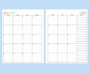 104 best monthly calendar template images on pinterest With two page monthly calendar template