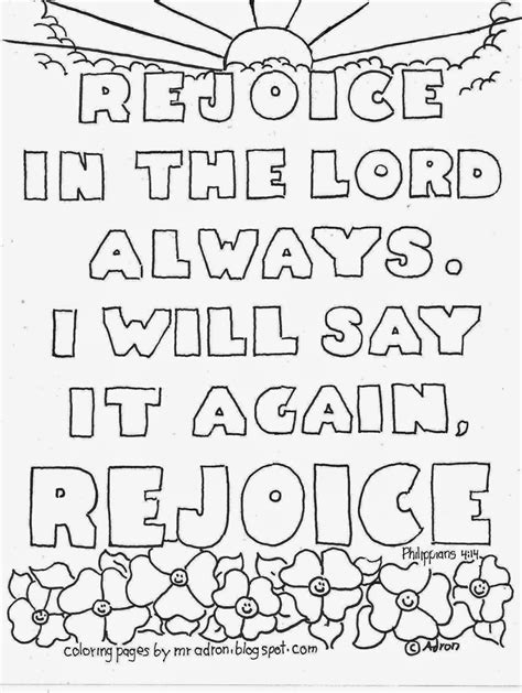 Galatians 6 10 Coloring Page Bluebells Class Coloring Pages For By Mr Adron Rejoice In The Lord