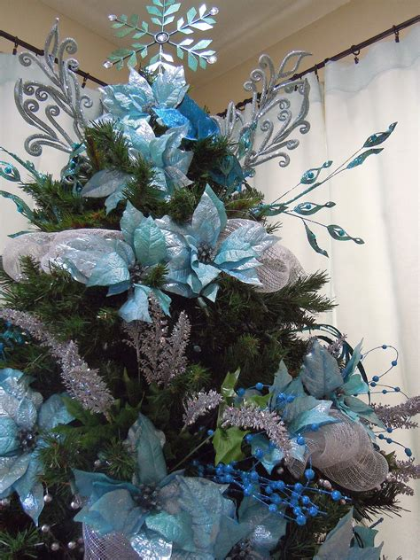 seasontry turquoise  silver christmas tree