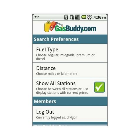 gasbuddy app android gasbuddy for android app review