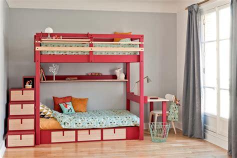 lit superposé avec bureau intégré chambre domozoom com