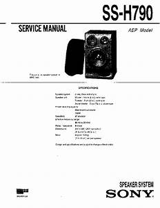 Sony Mhc-790  Ss-h790 Service Manual