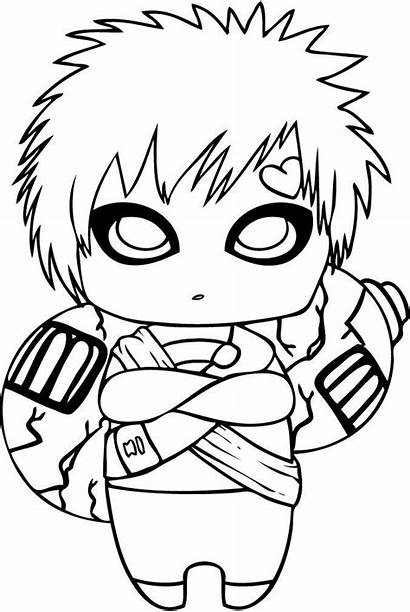 Naruto Easy Drawings Coloring Chibi Pages Anime