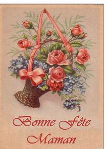 carte postale ancienne de fete des meres With affiche chambre bébé avec bouquet de fleurs envoyer