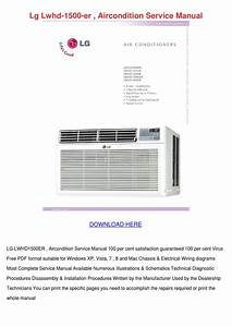 Lg Lwhd 1500 Er Aircondition Service Manual By