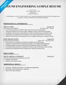 career change engineer to resume sound engineering resume sle resumecompanion sle resume