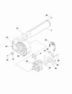 Kenmore 417 84072300 Blower Housing Assembly W  Cover Wheel
