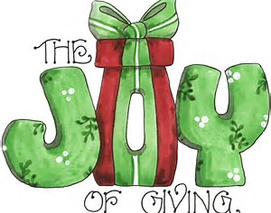 Image result for giving for the holidays  clip art
