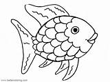 Fish Rainbow Coloring Pages Printable Adults sketch template
