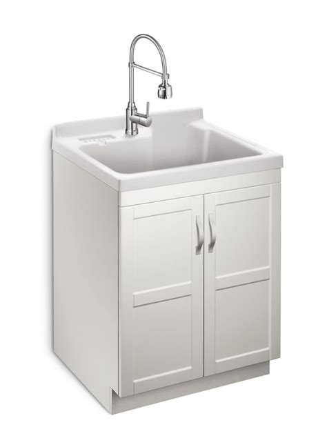 glacier bay utility sink glacier bay deluxe all in one laundry cabinet the home