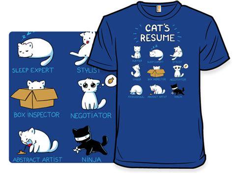 cat s resume shirt woot