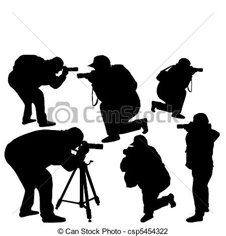 12144 professional photographer clipart vector illustration of professional photographers with
