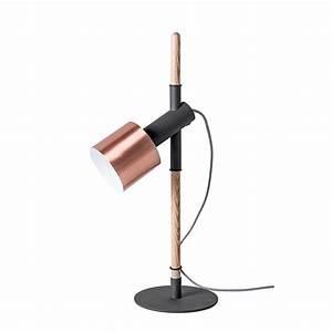 Lampe à Poser Cuivre : lampe poser cuivre bois et m tal pole by drawer ~ Dailycaller-alerts.com Idées de Décoration