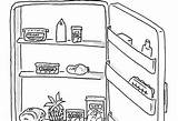 Open Clipart Fridge Drawing Refrigerator Cartoon Nothing Fridg Yourself Health Parenting Drawings Paintingvalley sketch template