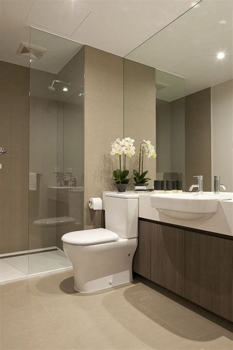 beautiful modern bathroom neutral interesting countertop