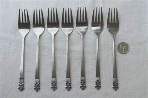 cambridge japan flatware estate lot mod vintage stainless