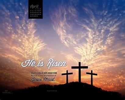 Risen He April Wallpapers Christian Jesus 1024