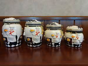 4 kitchen canister sets chef canisters ebay