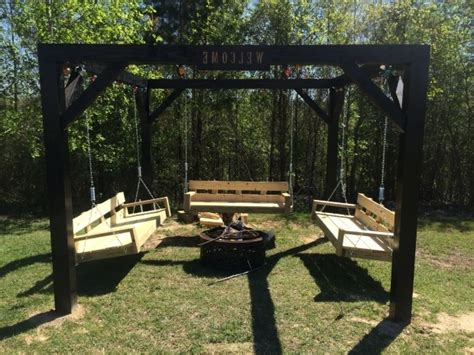 pit with swings pit swing set pit ideas