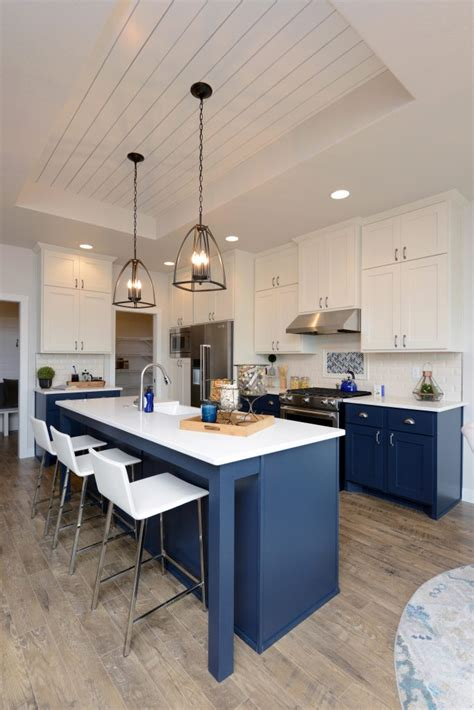 design trend navy cabinetry thomsen homes