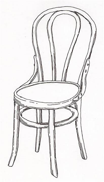 Contour Chair Drawing Draw Pencil Drawings Paper