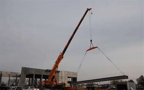 lb precast concrete building erection northwest crane