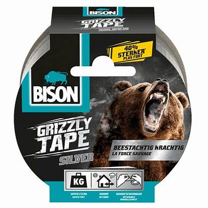 Grizzly Tape Bison Rol Zilver Reparaties Kleine
