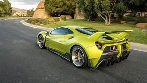 Ferrari 488 Gto : satin lime green misha designs ferrari 488 is not subtle ~ Medecine-chirurgie-esthetiques.com Avis de Voitures
