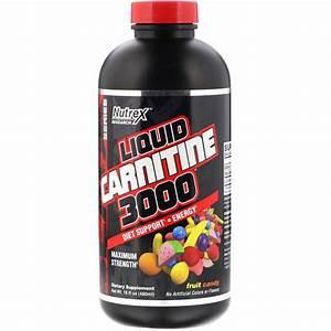 Nutrex Research  Liquid Carnitine 3000  Fruit Candy  16 Fl